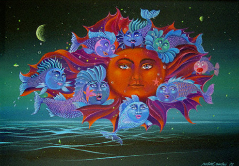 Meeresgruss an die Sonne