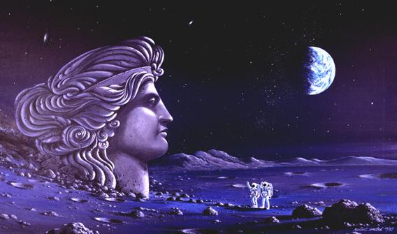 Stummes Gespräch mit der Mondgöttin Selene